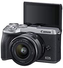 319JEJw VpL. AC  - Canon EOS M6 Mark II Mirrorless Digital Compact Camera + EF-M 15-45mm F/3.5-6.3 IS STM + EVF Kit, Silver