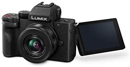 319yFxtp sL. AC  - Panasonic LUMIX G100 4k Mirrorless Camera, Lightweight Camera for Photo and Video, Built-in Microphone, Micro Four Thirds with 12-32mm Lens, 5-Axis Hybrid I.S, 4K 24p 30p Video, DC-G100KK (Black)