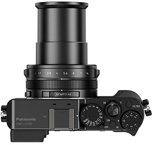 413iKNFbgiL. AC  - Panasonic LUMIX LX100 4K Point and Shoot Camera, 3.1X LEICA DC VARIO-SUMMILUX F1.7-2.8 Lens with Power O.I.S., 12.8 Megapixel, DMC-LX100K (USA BLACK)