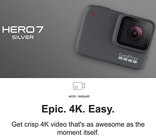 417gp9MYtdL. AC  - GoPro HERO7 Silver - E-Commerce Packaging - Waterproof Digital Action Camera with Touch Screen 4K HD Video 10MP Photos Live Streaming Stabilization