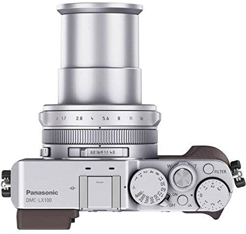 41FHUYhJ6ZL. AC  - Panasonic LUMIX LX100 4K Point and Shoot Camera, 3.1X LEICA DC VARIO-SUMMILUX F1.7-2.8 Lens with Power O.I.S., 12.8 Megapixel, DMC-LX100K (USA BLACK)