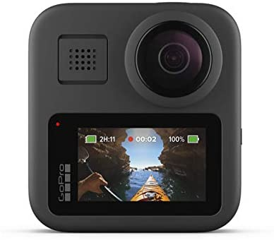 41GoRkZi9BL. AC  - GoPro MAX Waterproof 360 + Traditional Camera with Touch Screen Spherical 5.6K30 HD Video 16.6MP 360 Photos 1080p Live Streaming Stabilization (Renewed)