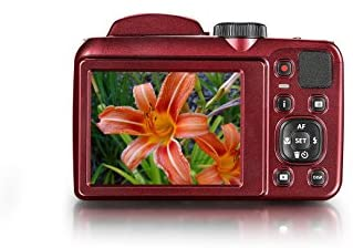 """41JwGK2fCTL. AC  - Kodak PIXPRO Astro Zoom AZ252-RD 16MP Digital Camera with 25X Optical Zoom and 3"""" LCD (Red)"""