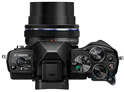41KxJb7SB1L. AC  - Olympus OM-D E-M10 Mark III Camera Kit with 14-42mm EZ Lens (Black), Camera Bag & Memory Card, Wi-Fi Enabled, 4K Video, US Only