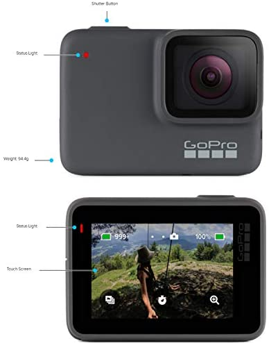 41bcIDgRsPL. AC  - GoPro HERO7 Silver - E-Commerce Packaging - Waterproof Digital Action Camera with Touch Screen 4K HD Video 10MP Photos Live Streaming Stabilization