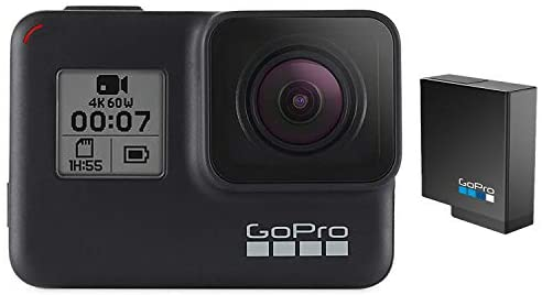41jDk9YBBkL. AC  - GoPro HERO7 Black + Extra Battery - E-Commerce Packaging - Waterproof Digital Action Camera with Touch Screen 4K HD Video 12MP Photos Live Streaming Stabilization