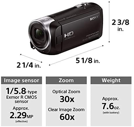 41nuFREjvaL. AC  - Sony - HDRCX405 HD Video Recording Handycam Camcorder (black)