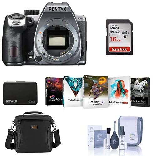 517AkNawJ6L. AC  - Pentax K-70 24MP Full HD Digital SLR Camera, Body Only, Silver - Bundle with 16GB SDHC Card, Camera Bag, Cleaning Kit, Memory Wallet, Software Package