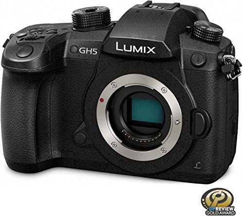 51Cq0kjkVyL. AC  - Panasonic LUMIX GH5 4K Digital Camera, 20.3 Megapixel Mirrorless Camera with Digital Live MOS Sensor, 5-Axis Dual I.S. 2.0, 4K 4:2:2 10-Bit Video, Full-Size HDMI Out, 3.2-Inch LCD, DC-GH5 (Black)