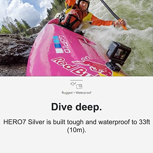51DZHALAX L. AC  - GoPro HERO7 Silver - E-Commerce Packaging - Waterproof Digital Action Camera with Touch Screen 4K HD Video 10MP Photos Live Streaming Stabilization