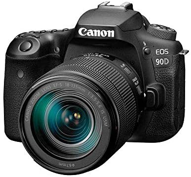 51M8G 1P hL. AC  - Canon DSLR Camera [EOS 90D] with 18-135 is USM Lens | Built-in Wi-Fi, Bluetooth, DIGIC 8 Image Processor, 4K Video, Dual Pixel CMOS AF, and 3.0 Inch Vari-Angle Touch LCD Screen, Black