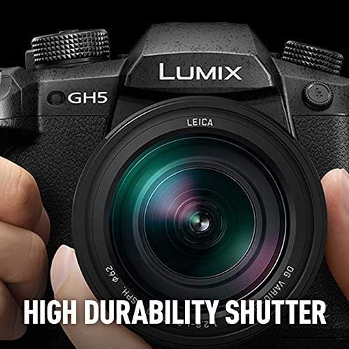 51WLHyA2k5L. AC  - Panasonic LUMIX GH5 4K Digital Camera, 20.3 Megapixel Mirrorless Camera with Digital Live MOS Sensor, 5-Axis Dual I.S. 2.0, 4K 4:2:2 10-Bit Video, Full-Size HDMI Out, 3.2-Inch LCD, DC-GH5 (Black)