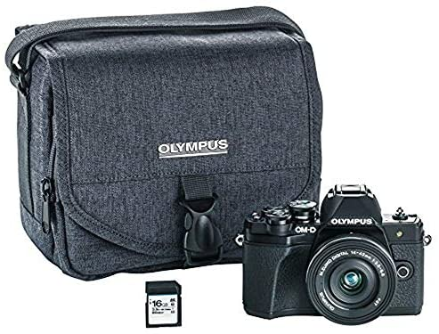51gsbNqkl4L. AC  - Olympus OM-D E-M10 Mark III Camera Kit with 14-42mm EZ Lens (Black), Camera Bag & Memory Card, Wi-Fi Enabled, 4K Video, US Only