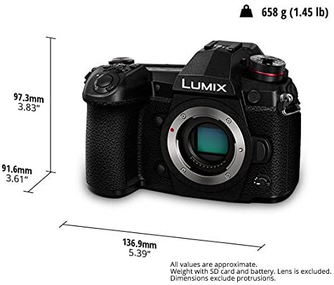 1618091375 749 51nMyThQ+TL. AC  - Panasonic LUMIX G9 Mirrorless Camera, Micro Four Thirds, 20.3 Megapixels Plus 80 Megapixel, High-Resolution Mode with LUMIX G Vario 12-60mm F3.5-5.6 Lens (DC-G9MK), Black