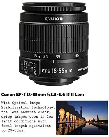 1619656828 622 51MLHkn7T6L. AC  - Canon EOS Rebel T7 DSLR Camera Bundle with Canon EF-S 18-55mm f/3.5-5.6 is II Lens + Canon EF 75-300mm f/4-5.6 III Lens + 2pc SanDisk 32GB Memory Cards + Accessory Kit (Renewed)