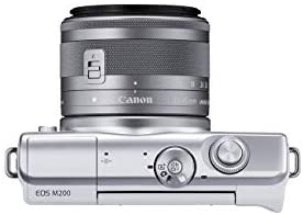 31+NFrbIt4L. AC  - Canon EOS M200 Compact Mirrorless Digital Vlogging Camera with EF-M 15-45mm Lens, Vertical 4K Video Support, 3.0-inch Touch Panel LCD, Built-in Wi-Fi, and Bluetooth Technology, White