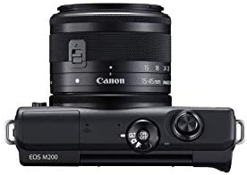 31+fe3BImgL. AC  - Canon EOS M200 Compact Mirrorless Digital Vlogging Camera with EF-M 15-45mm Lens, Vertical 4K Video Support, 3.0-inch Touch Panel LCD, Built-in Wi-Fi, and Bluetooth Technology, Black