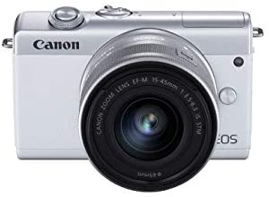3189nMIinML. AC  - Canon EOS M200 Compact Mirrorless Digital Vlogging Camera with EF-M 15-45mm Lens, Vertical 4K Video Support, 3.0-inch Touch Panel LCD, Built-in Wi-Fi, and Bluetooth Technology, White