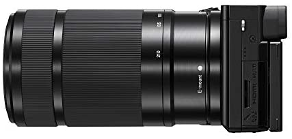31LFo2G8WIL. AC  - Sony Alpha A6100 Mirrorless Camera with 16-50mm and 55-210mm Zoom Lenses, ILCE6100Y/B, Black