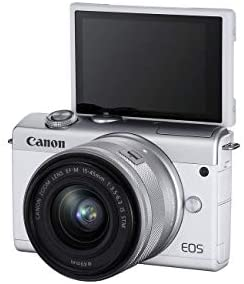 31cGxKaSRnL. AC  - Canon EOS M200 Compact Mirrorless Digital Vlogging Camera with EF-M 15-45mm Lens, Vertical 4K Video Support, 3.0-inch Touch Panel LCD, Built-in Wi-Fi, and Bluetooth Technology, White