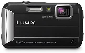 31kuAbzs3FL. AC  - Panasonic LUMIX Waterproof Digital Camera Underwater Camcorder with Optical Image Stabilizer, Time Lapse, Torch Light and 220MB Built-In Memory – DMC-TS30K (Black)