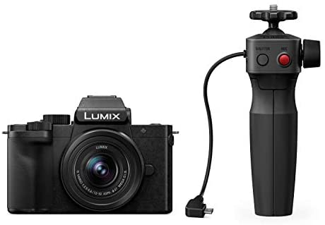 31l6p+7SM5L. AC  - Panasonic LUMIX G100 4k Mirrorless Camera, Lightweight Camera for Photo and Video, Built-in Microphone, Micro Four Thirds with 12-32mm Lens, 5-Axis Hybrid I.S, 4K 24p 30p Video, DC-G100KK (Black)