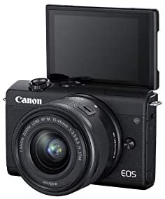 31oMW5Gkx4L. AC  - Canon EOS M200 Compact Mirrorless Digital Vlogging Camera with EF-M 15-45mm Lens, Vertical 4K Video Support, 3.0-inch Touch Panel LCD, Built-in Wi-Fi, and Bluetooth Technology, Black