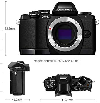 41+0+ROzuhL. AC  - Olympus OM-D E-M10 Mark II Mirrorless Camera with 14-42mm II R Lens (Silver)