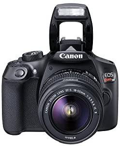 41+D7aG7KDL. AC  - Canon EOS Rebel T6 Digital SLR Camera Kit with EF-S 18-55mm f/3.5-5.6 is II Lens, Built-in WiFi and NFC - Black (Renewed)