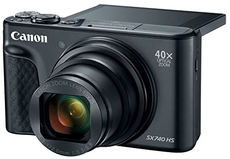 410K3nsFR4L. AC  - Canon PowerShot SX740 Digital Camera w/40x Optical Zoom & 3 Inch Tilt LCD - 4K VIdeo, Wi-Fi, NFC, Bluetooth Enabled (Black)
