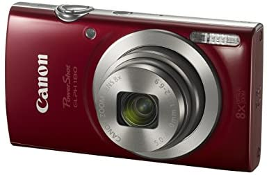 410tWH8l+CL. AC  - Canon PowerShot ELPH 180 Digital Camera w/Image Stabilization and Smart AUTO Mode (Red)