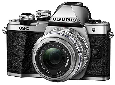 413p 9c85xL. AC  - Olympus OM-D E-M10 Mark II Mirrorless Camera with 14-42mm II R Lens (Silver)