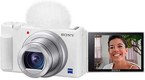 416kbU3JO L. AC  - Sony ZV-1 Compact Digital Vlogging 4K Camera for Content Creators & Vloggers DCZV1/W Bundle with Deco Gear Case + Software Kit + 64GB Card + Compact Tripod/Handheld Grip and Accessories