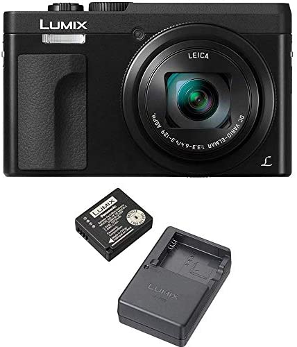 4182McP3HLL. AC  - Panasonic LUMIX DC-ZS70S 20.3MP 4K Digital Camera (Black) with Battery and External Charger Travel Pack Bundle