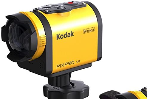 "4186JTBvVWL. AC  - Kodak PIXPRO SP1 Action Cam with Explorer Pack 14 MP Water/Shock/Freeze/Dust Proof, Full HD 1080p Video, Digital Camera and 1.5"" LCD Screen (Yellow)"