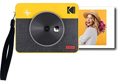 """418gZP8l+dL. AC  - Kodak Mini Shot 3 Retro 2-in-1 Portable 3x3"""" Wireless Instant Camera & Photo Printer, Compatible with iOS, Android & Bluetooth, Real Photo HD 4Pass Technology & Laminated Finish – Yellow"""