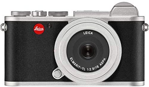 419Sf1+GiFL. AC  - Leica CL Mirrorless Digital Camera, Silver 18mm F2.8 ELMARIT-TL Aspherical Pancake Lens, Silver