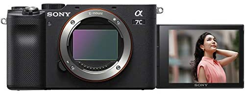 419nkEk+jwL. AC  - Sony a7C Mirrorless Full Frame Camera Alpha 7C Interchangeable Lens Body Only Black ILCE7C/B Bundle with Deco Gear Case + Extra Battery + Flash + Filters + 64GB Card + Software Kit and Accessories