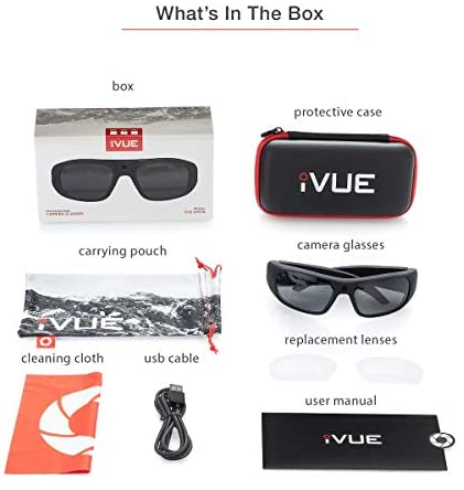 41CBXbsmEaL. AC  - iVUE Vista 4K/1080P HD Camera Glasses Video Recording Sport Sunglasses DVR Eyewear, Up to 120FPS, 64GB Memory