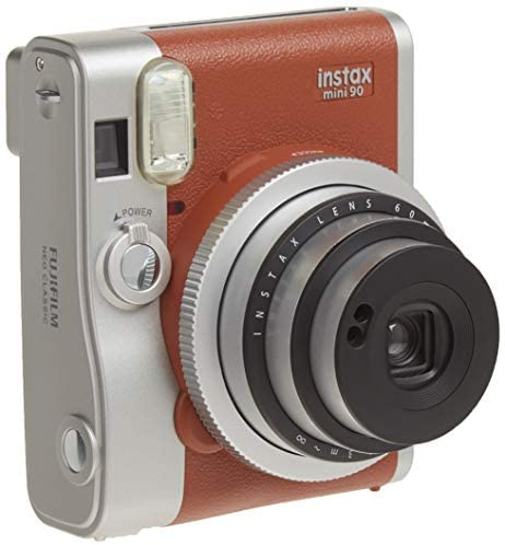 41CPcMPV63L. AC  - Fujifilm Instax Mini 90 Instant Film Camera (Brown)