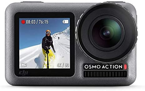 41Cy 31z4WL. AC  - DJI Osmo Action - 4K Action Cam 12MP Digital Camera with 2 Displays 36ft Underwater Waterproof WiFi HDR Video 145° Angle, Black