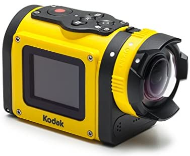 "41DeT970qVL. AC  - Kodak PIXPRO SP1 Action Cam with Explorer Pack 14 MP Water/Shock/Freeze/Dust Proof, Full HD 1080p Video, Digital Camera and 1.5"" LCD Screen (Yellow)"