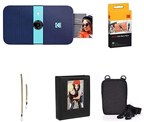 41HWHBrONQL. AC  - KODAK Smile Instant Print Digital Camera (Blue) with Extra Paper, Album, Case, Colorful Neck/Hand Strap