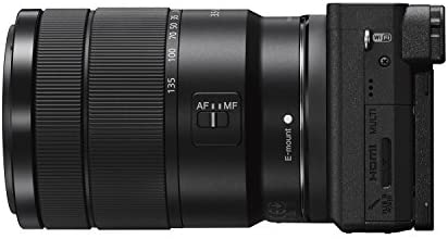 41HziG3TtEL. AC  - Sony Alpha a6400 Mirrorless Camera: Compact APS-C Interchangeable Lens Digital Camera with Real-Time Eye Auto Focus, 4K Video, Flip Screen & 18-135mm Lens - E Mount Compatible Cameras - ILCE-6400M/B