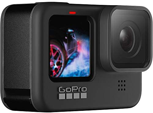 41IzpNl7gKL. AC  - GoPro HERO9 Black, Waterproof Sport and Action Camera, 5K/4K Video, Power Bundle with Dual Charger, 3 Extra Battery, 128GB microSD Card, Cleaning Kit