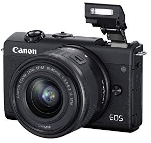 41JQMMP3NpL. AC  - Canon EOS M200 Compact Mirrorless Digital Vlogging Camera with EF-M 15-45mm Lens, Vertical 4K Video Support, 3.0-inch Touch Panel LCD, Built-in Wi-Fi, and Bluetooth Technology, Black