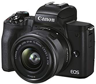 41JSvolJh2L. AC  - Canon EOS M50 Mark II (Black) + EF-M 15-45mm & EF-M 55-200mm is STM Bundle