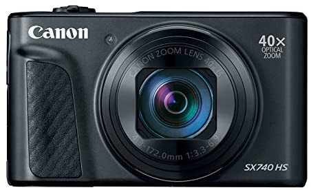 41Q7uySEzNL. AC  - Canon PowerShot SX740 Digital Camera w/40x Optical Zoom & 3 Inch Tilt LCD - 4K VIdeo, Wi-Fi, NFC, Bluetooth Enabled (Black)