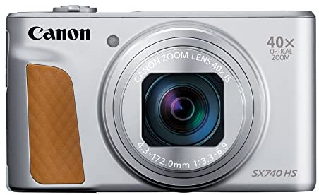 41VC7m3 RWL. AC  - Canon PowerShot SX740 Digital Camera w/40x Optical Zoom & 3 Inch Tilt LCD - 4K VIdeo, Wi-Fi, NFC, Bluetooth Enabled (Silver)