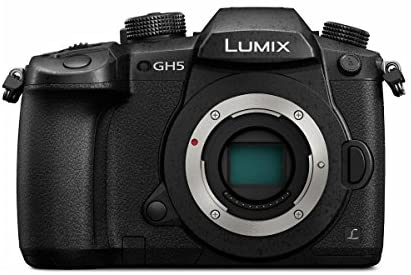 41VGbLz A8L. AC  - Panasonic LUMIX GH5 4K Mirrorless Digital Camera, 20.3 Megapixel DC-GH5 (Body), Essential Bundle with LED Light, RODE VideoMicro Mic, Backpack, Battery, Charger, 128GB SD Card and Accessories